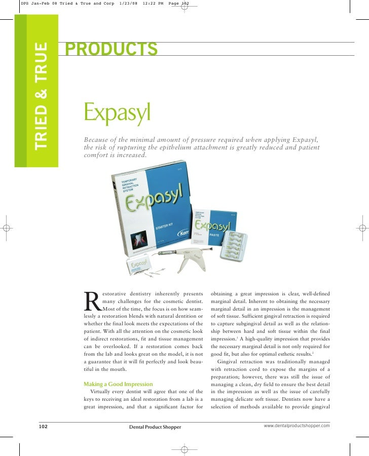 DPS Jan-Feb 08 Tried & True and Corp    1/23/08   12:22 PM    Page 102     TRIED & TRUE                    PRODUCTS       ...