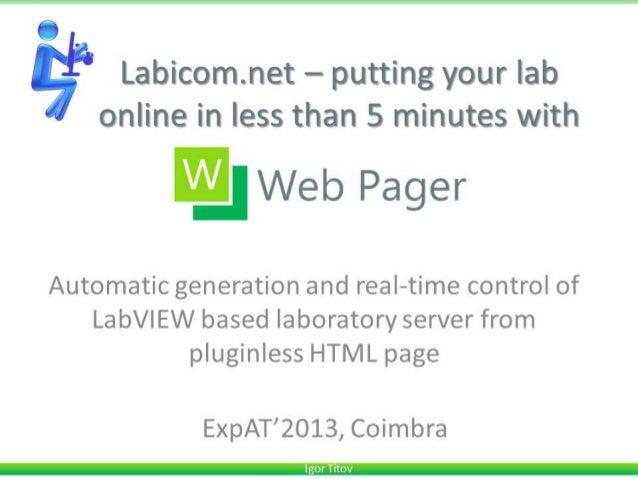 Exp at 2013-demo 73-labicom.net webpager-titov (public version)