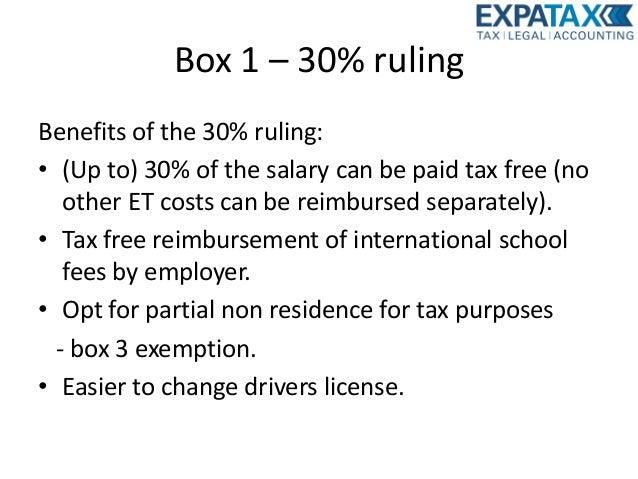 30 tax ruling