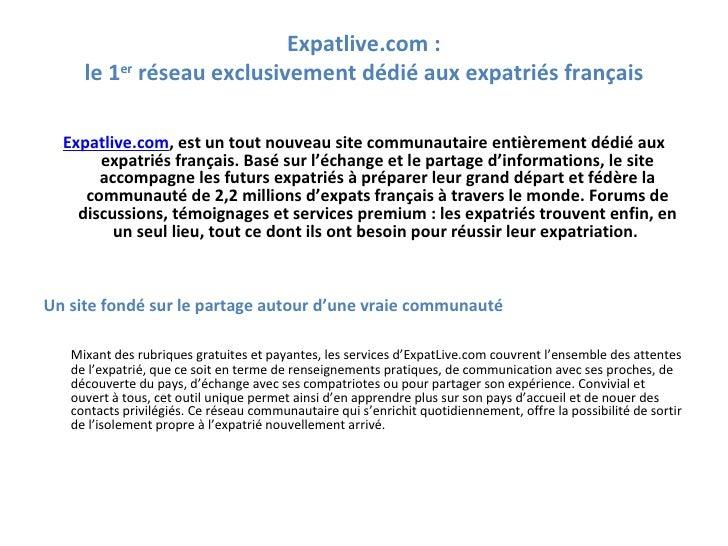 Présentation d\'Expatlive.com Slide 2