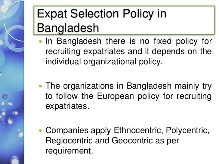 factors influencing expatriate selection