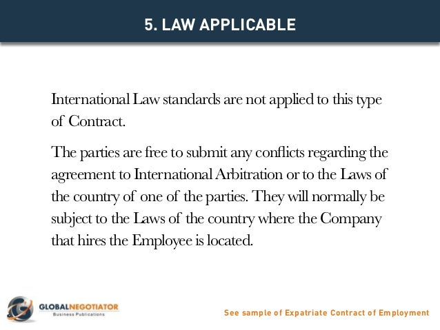 annexes see sample of expatriate contract of employment 6 5