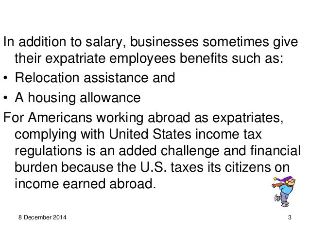 elements of expatriate compensation package