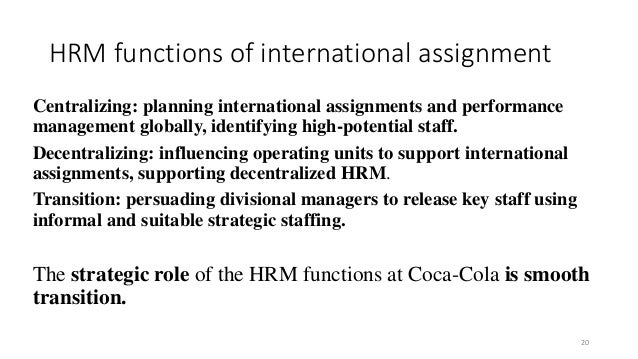 global human resource management at coca-cola question answers essay Click here to find out coca cola's  coca cola swot analysis  innovation and visual thinking' and 'introduction to human resource management'.