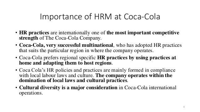 HR Policies of Coca Cola