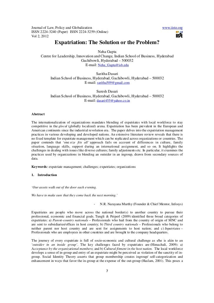 Journal of Law, Policy and Globalization                                                       www.iiste.orgISSN 2224-3240...