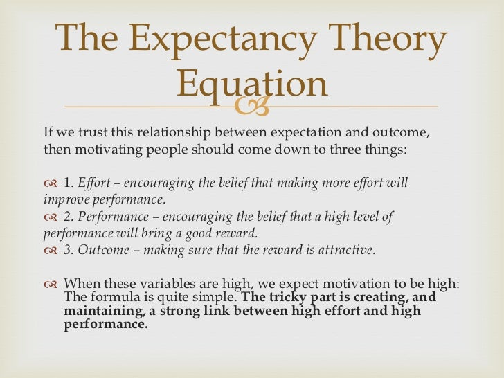 three relationships of expectancy theory