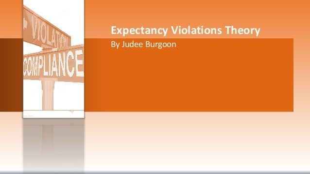 the expectancy violations theory and human norms Interactions and the effects of people's adherence to and deviations from those expectations two theories that answer the question in the affirmative are expectancy violations theory.