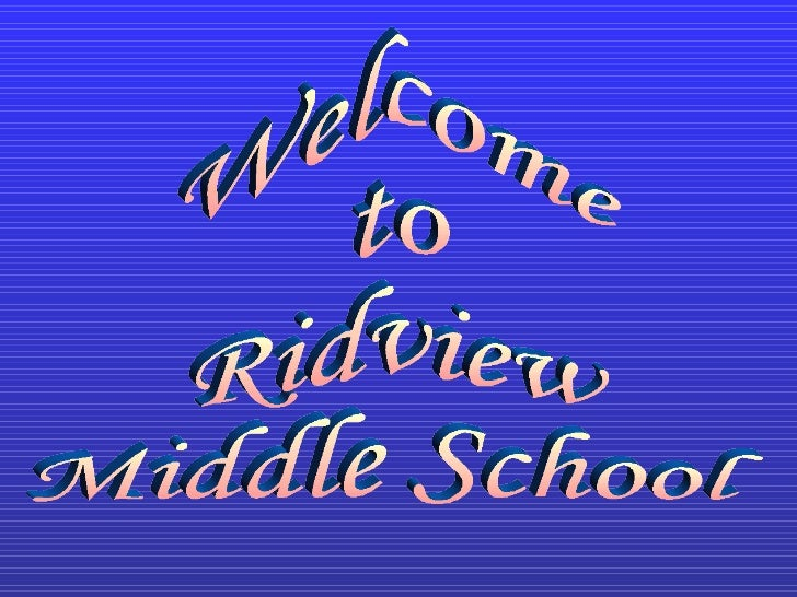 Welcome to Ridview Middle School