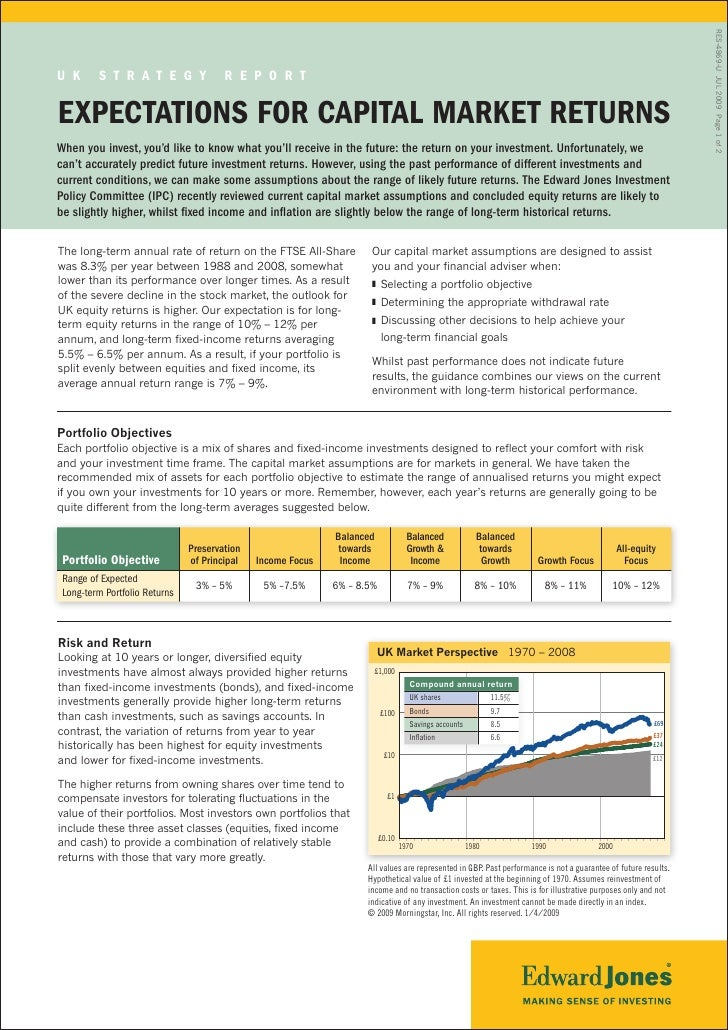 RES-4869-U JUL 2009 Page 1 of 2 U K      S t r a t e g y               r e p o r t  expectationS for capital MarKet retUrn...