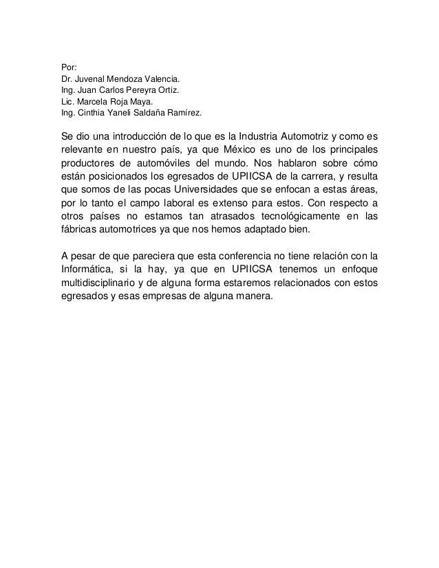 Por: Dr. Juvenal Mendoza Valencia. Ing. Juan Carlos Pereyra Ortiz. Lic. Marcela Roja Maya. Ing. Cinthia Yaneli Saldaña Ram...