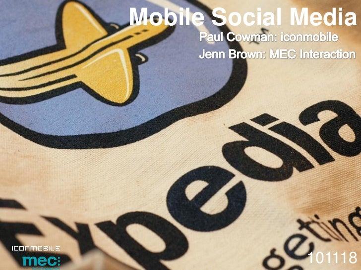 Mobile Social Media              101118