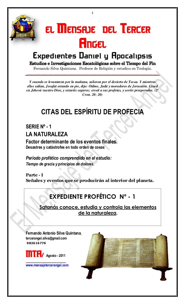 1       EL MENSAJE DEL TERCER                ANGEL    Expedientes Daniel y Apocalipsis  Estudios e Investigaciones Escatol...