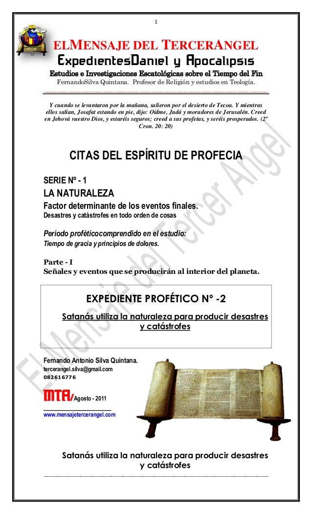 1   ELMENSAJE DEL TERCERANGEL     ExpedientesDaniel y Apocalipsis  Estudios e Investigaciones Escatológicas sobre el Tiemp...