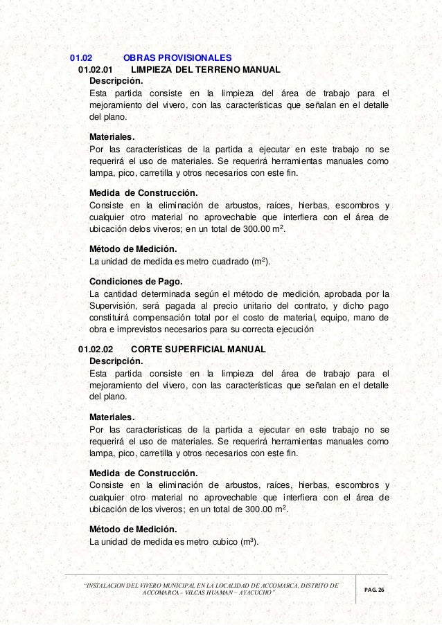 Expediente forestal for Viveros en lampa