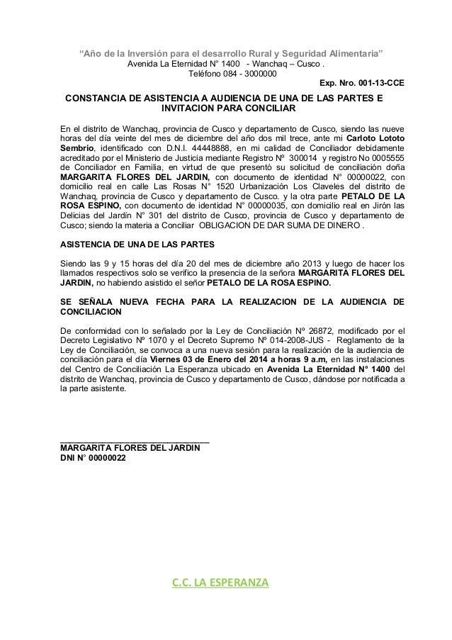 Curso de derecho expediente nro 001 2013 o d s d for Oficina de asistencia en materia de registros