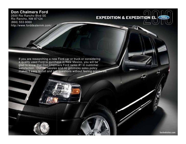 Don Chalmers Ford 2500 Rio Rancho Blvd SE Rio Rancho, NM 87124                                          EXPEDITION & EXPED...