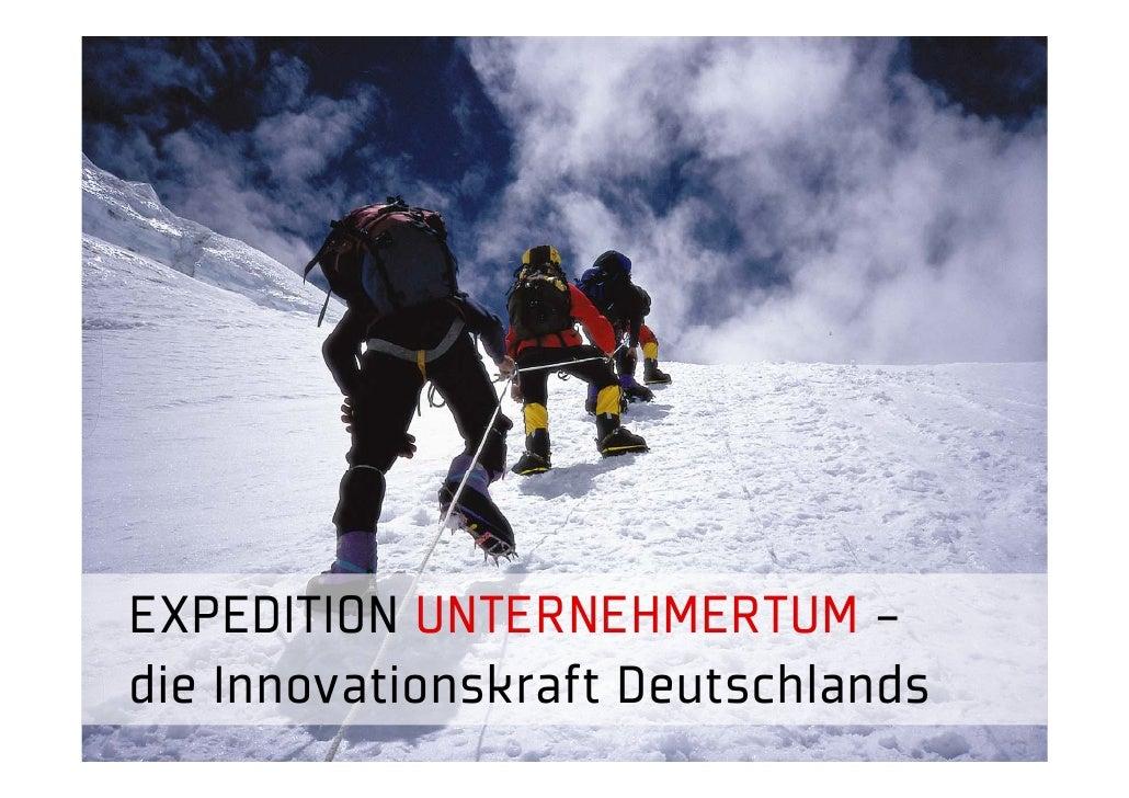 EXPEDITION UNTERNEHMERTUM - die Innovationskraft Deutschlands