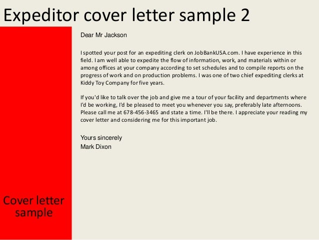 expediting services letters