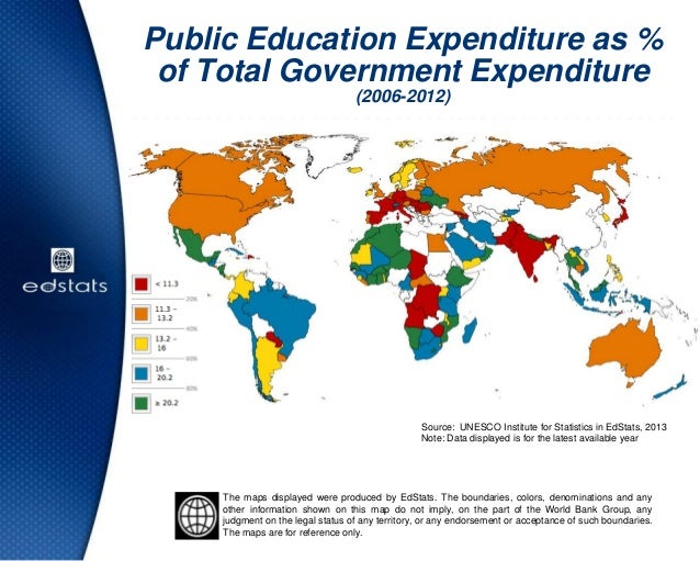Public Education Expenditure as %of Total Government Expenditure(2006-2012)Source: UNESCO Institute for Statistics in EdSt...