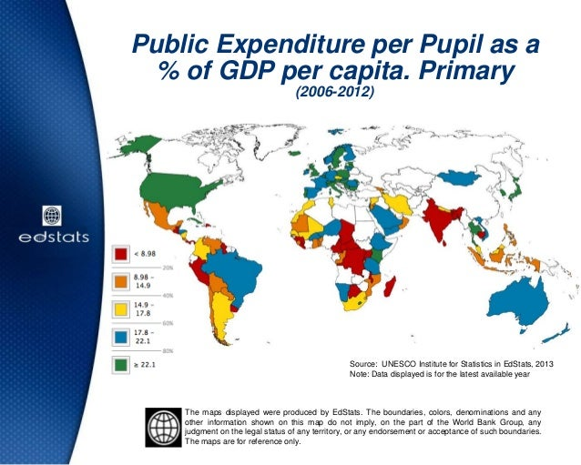Public Expenditure per Pupil as a% of GDP per capita. Primary(2006-2012)Source: UNESCO Institute for Statistics in EdStats...