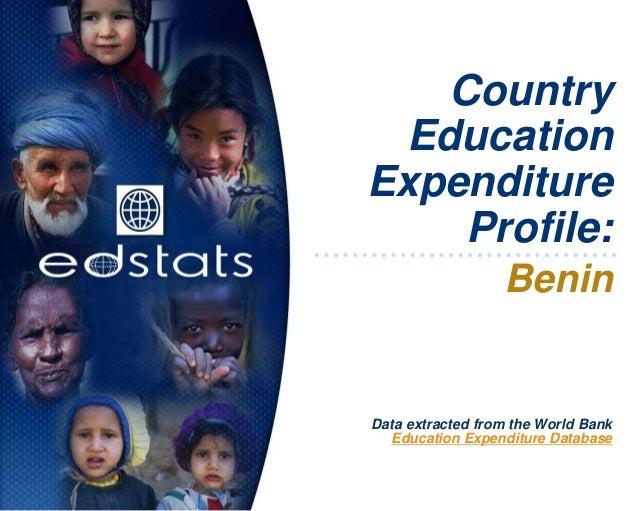 CountryEducationExpenditureProfile:BeninData extracted from the World BankEducation Expenditure Database