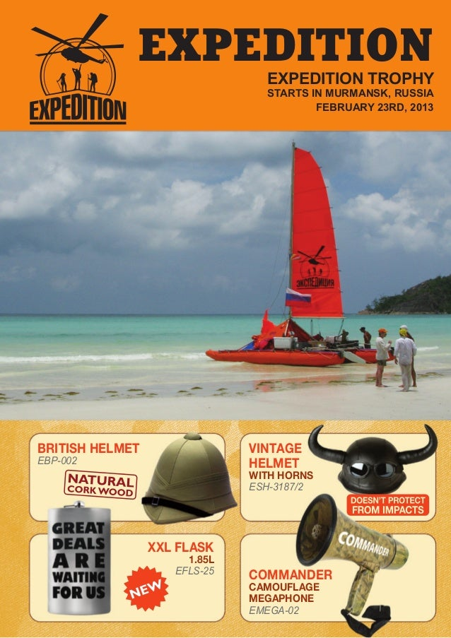 EXPEDITION EXPEDITION TROPHY STARTS IN MURMANSK, RUSSIA FEBRUARY 23RD, 2013 VINTAGE HELMET WITH HORNS ESH-3187/2 COMMANDER...