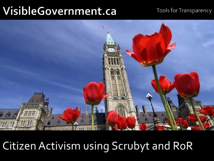 Citizen Activism using Scrubyt and RoR