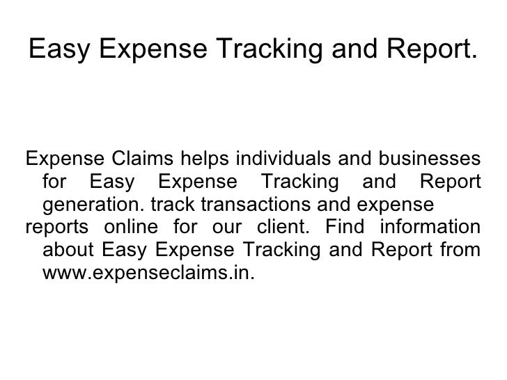 easy expense reports