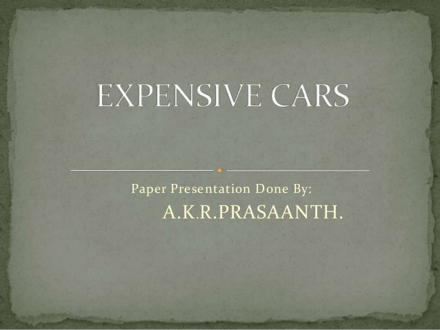 Paper Presentation Done By: A.K.R.PRASAANTH.