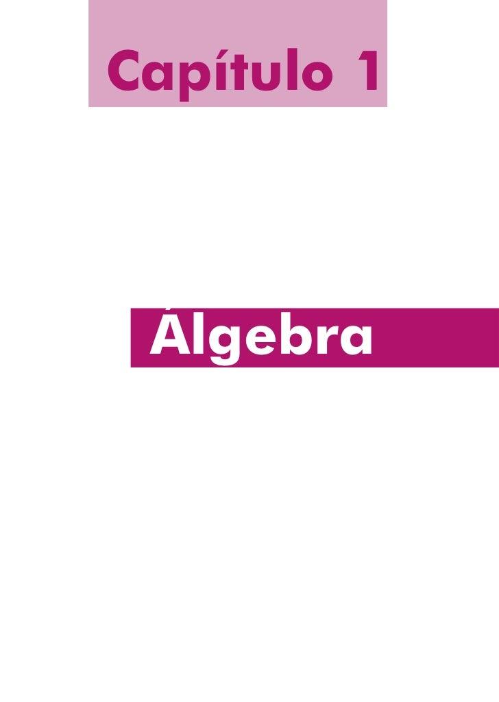 Capítulo 1 Álgebra     11