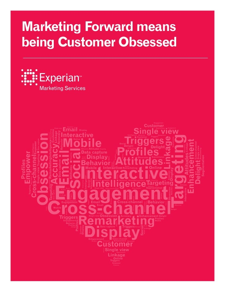 Marketing Forward meansbeing Customer Obsessed