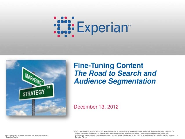 Fine-Tuning Content                                                                  The Road to Search and               ...