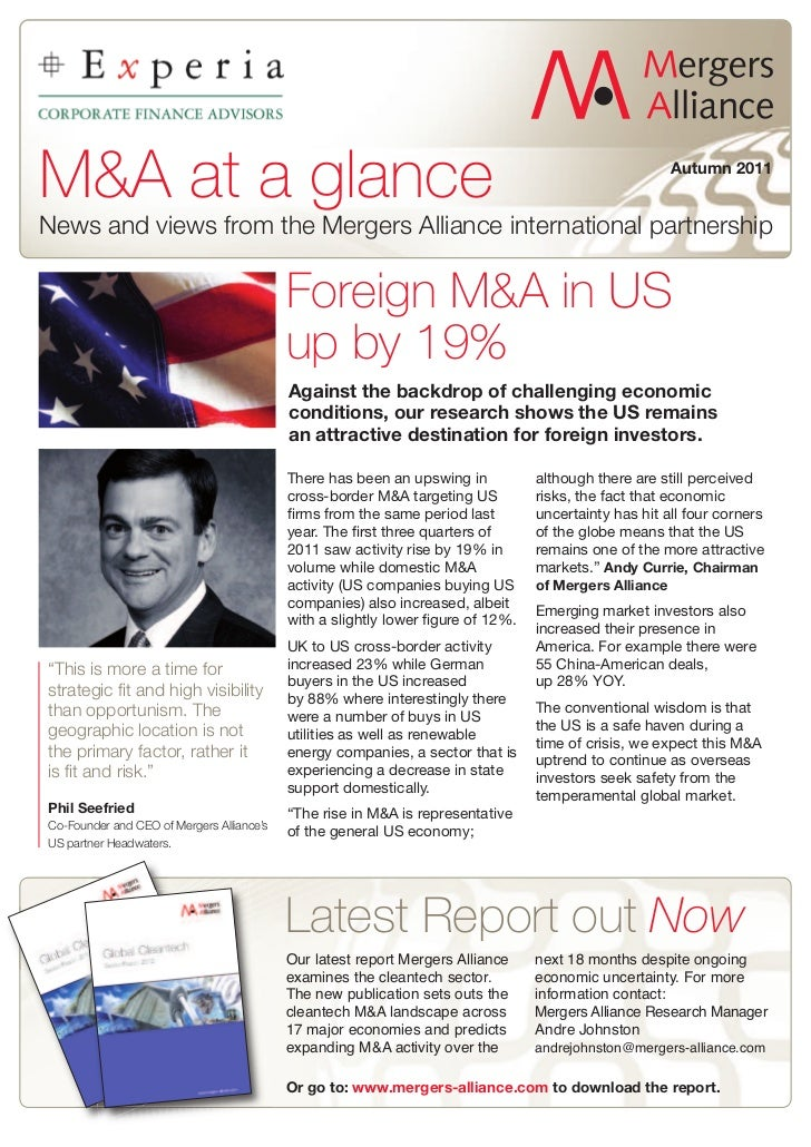 M&A at a glance                                                                                        Autumn 2011News and...