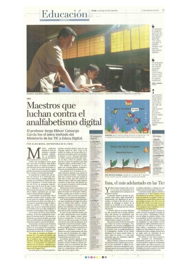 Maestros que luchan contra el analfabetismo digital.