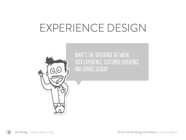 Senior Service Design Consultant at Deloitte DigitalJani Modig – Twitter: @janimodig WHAt'S tHE DIfFerEnCe BeTweEN  USeR ...