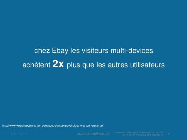 chez Ebay les visiteurs multi-devices  achètent 2x plus que les autres utilisateurs  http://www.websiteoptimization.com/sp...