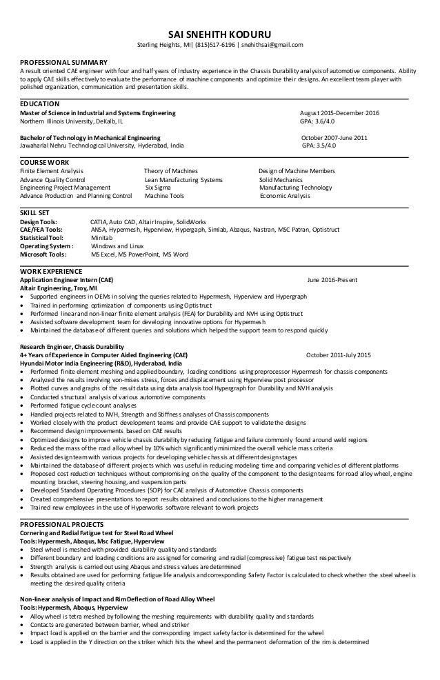 resume engineers