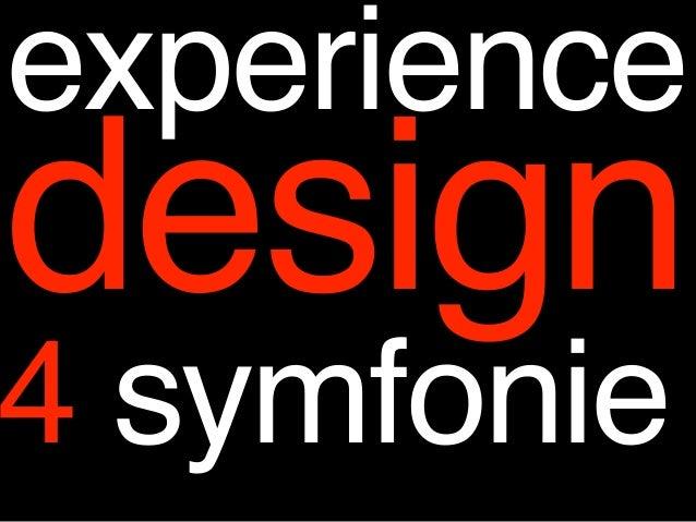 experiencedesign4 symfonie