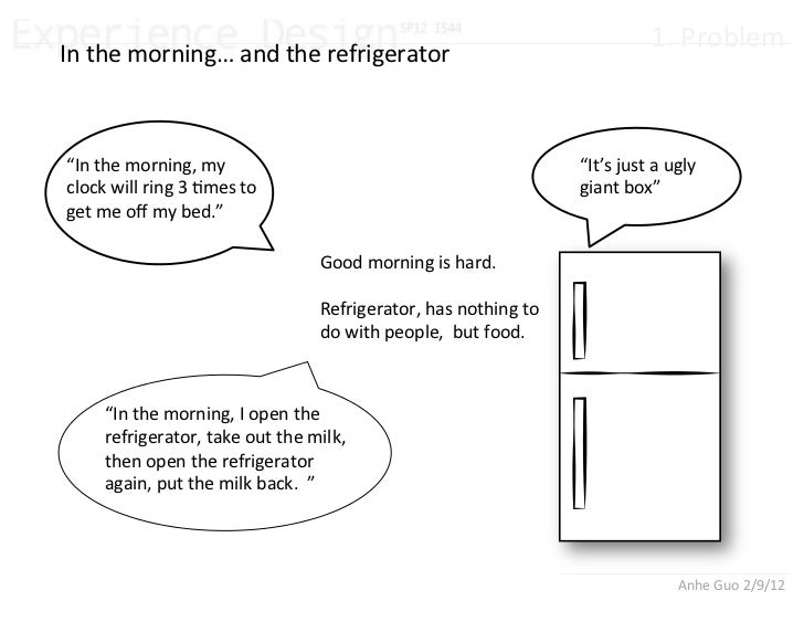 "1.%Problem%In%the%morning…%and%the%refrigerator%""In%the%morning,%my%                                             ""It's%jus..."