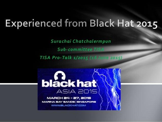 Surachai Chatchalermpun Sub-committee TISA TISA Pro-Talk 1/2015 (16 June 2015)