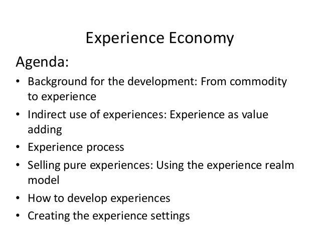 Experience economy Slide 2