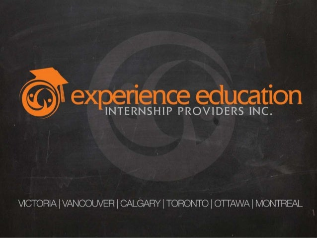 Experience education products