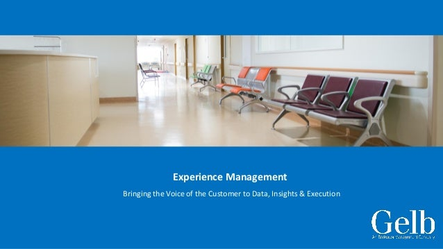 Experience Management Bringing the Voice of the Customer to Data, Insights & Execution