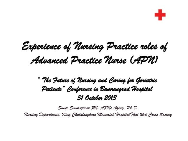 """Experience of Nursing Practice roles of Advanced Practice Nurse (APN) """" The Future of Nursing and Caring for Geriatric Pat..."""