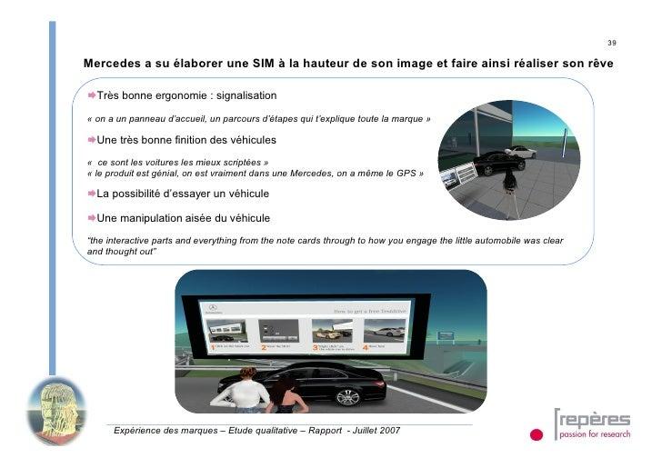 39  Mercedes a su élaborer une SIM à la hauteur de son image et faire ainsi réaliser son rêve  Très bonne ergonomie : sig...