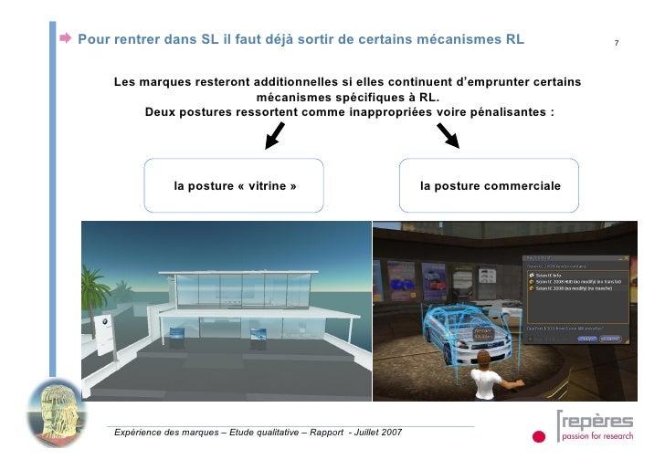  Pour rentrer dans SL il faut déjà sortir de certains mécanismes RL                                   7             Les m...