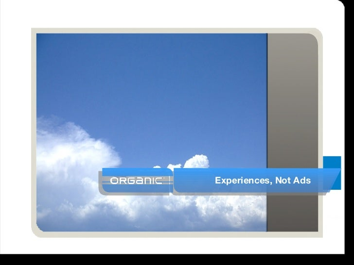 Experiences, Not Ads