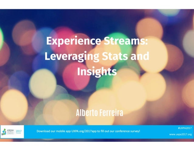 Experience Streams in Cross-Channel Service Design: Leveraging Stats and Insights