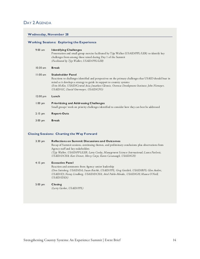 event brief template - usaid 39 s experience summit event brief